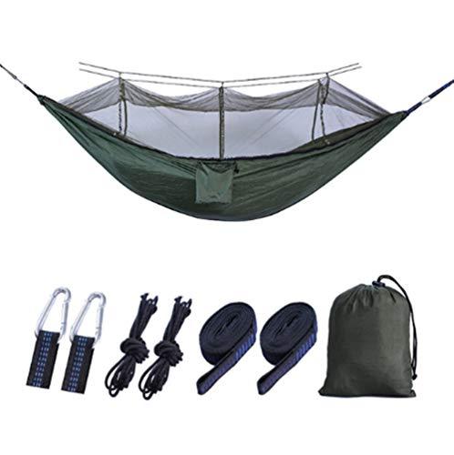 oofay Outdoor netten hangmat, 210T nylon parachute doek hangmat outdoor hangmat met een klamboe - gemengde kleuren -260 * 140CM