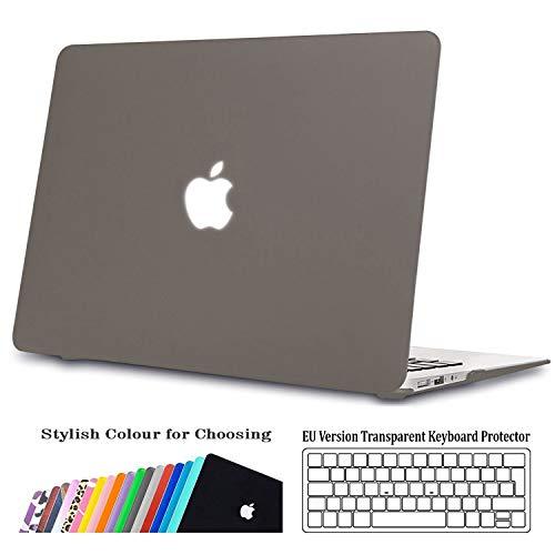 iNeseon Hülle für MacBook Air 13 (A1466 A1369), Ultra dünner Plastik Hartschale Schutzhülle Schalen Case + Tastaturschutz für Apple MacBook Air 13.3 Zoll (2010-2017 veröffentlicht),Mini Grau