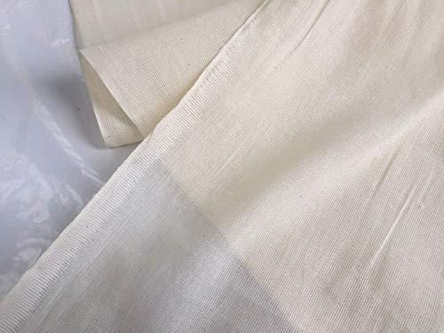 LushFabric 100% COTTON MUSLIN FABRIC fijne kaas doek - dressmaking voile gordijnen keuken - 160cm breed - Ecru Cream Cheesecloth