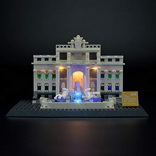 LIGHTAILING Conjunto de Luces (Architecture Fontana De Trevi) Modelo de Construcción de Bloques - Kit de luz LED Compatible con Lego 21020 (NO Incluido en el Modelo)