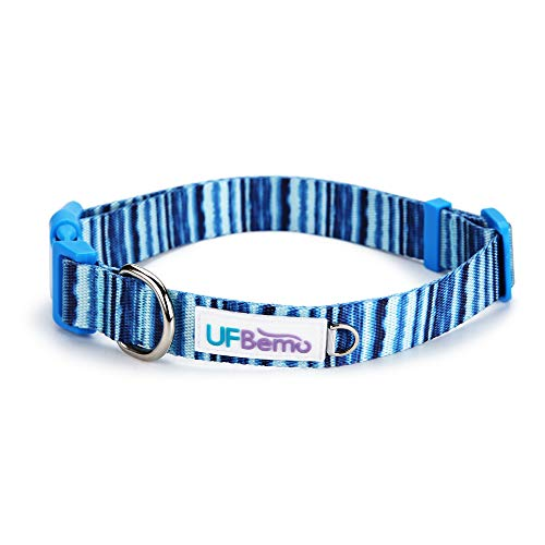 UFbemo Personalized Collar Soft & Comfy Pattern Padded Dog Collar, Matching Leash & Harness Available Separately for Pet Collars with Decoration