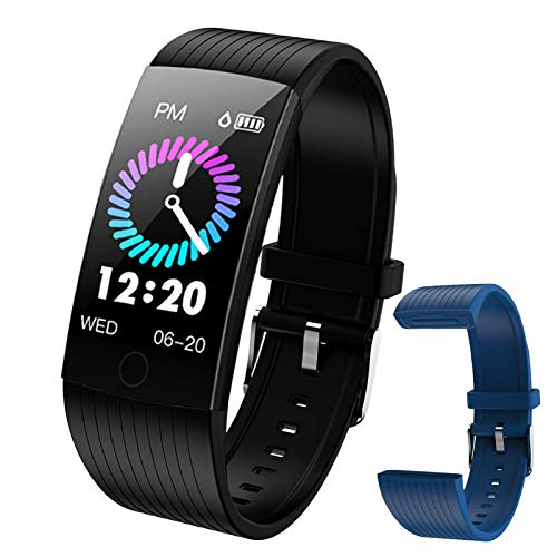 WELTEAYO Fitness Tracker with Heart Rate Monitor Fitness Watch Activity Tracker 1.14 Inch Color Screen Pedometer Blood Pressure Monitor Sleep Monitor IP67Waterproof for Android and iPhone (Black)