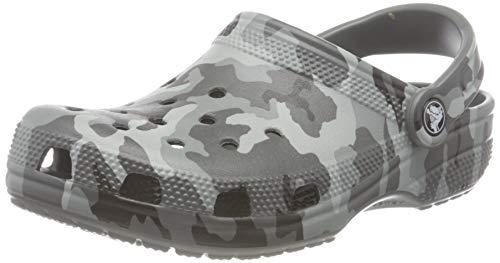 Crocs Unisex Classic Printed Camo Clog, Slate Grey/Multi, 4 UK Men/ 5 UK...