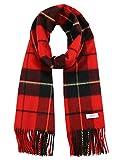 Scarlet × Black カシミヤ ストール カシミア ストール 大判 厚手 メンズ チェック柄 チェック カシミヤ マフラー 100 男性 ロング カシミヤストール カシミアストール ギフト プレゼント B1824B-18