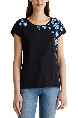 edc by ESPRIT Damen 040CC1K342 T-Shirt, 001/BLACK, M