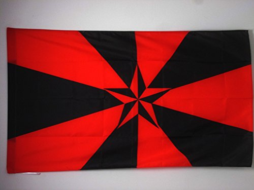 AZ FLAG Anarchy Star 3D Flag 3' x 5' for a pole - Arnachism Movement flags 90 x 150 cm - Banner 3x5 ft with hole