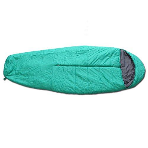 Xin.S Extérieur Momie Sac De Couchage Imperméable à L'eau Léger Respirant Confortable Adapté Pour Le Camping La Randonnée,230X80X50CM-Blue