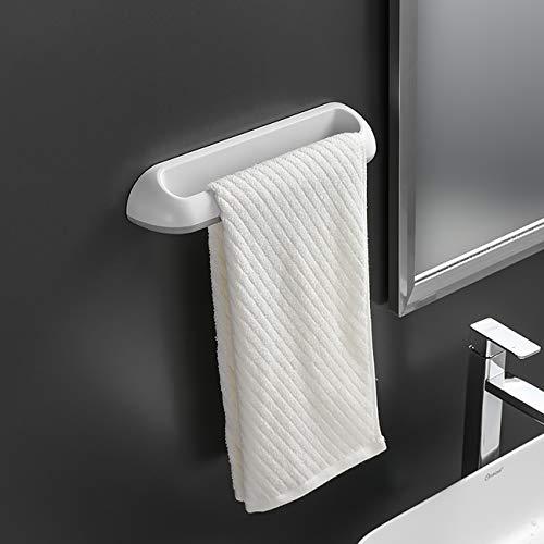 Toalleros de Baño Sin Taladro, Toallero Baño Adhesivo Toalleros Barra de Para Baño, Porta Toallas Baño, BLANCO