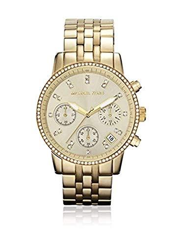 Relógio feminino Michael Kors (MK5698) dourado cronógrafo de aço inoxidável