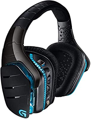 Logitech G933 Artemis Spectrum Wireless Gaming Headset, DTS 7.1 Surround Sound, 40mm Pro-G Drivers, 2.4 GHz, 3.5 mm Audio Jack, Lightsync RGB, G-Keys, PC/Mac/Xbox One/PS4/Nintendo Switch - Black