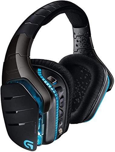 Logitech G933 Artemis Spectrum Cuffie Gaming Wireless, Cuffie DTS: Audio Surround X 7.1, Driver PRO-G da 40 mm, 2,4 GHz, Porta 3,5 mm, RGB Lightsync, Tasti G, PC/Mac/Xbox One/PS4/Nintendo - Nero