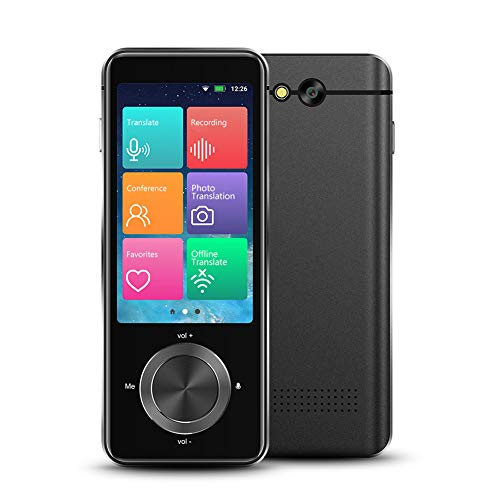 Language Translator Device 107 Languages, Two Way Language Instant and Portable Voice Translator, Offline Translators Devices, Voice & Text & Photo Translation, Audio Memo, 1500mAh Large Battery