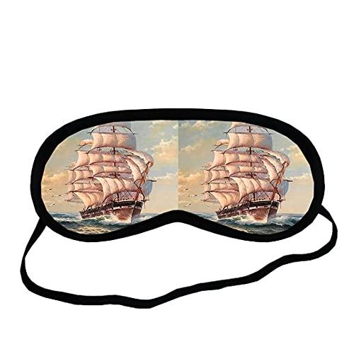 Desconocido Imprimir Con Sailboat Para Mujeres Compatible Para Eyeguard Tela De Algodón Hermosa