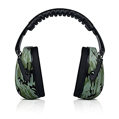 HEARTEK Kids Ear Protection Noise Reduction Children Protective Earmuffs – Sound Cancelling Hearing Muffs for Toddler, Baby, Infants – Adjustable, Foldable with Travel Bag- Camo