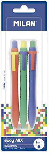 Blíster 3 bolígrafos Sway Mix, Azul