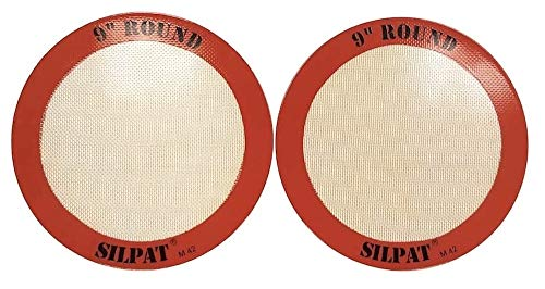 Silpat AH-222-02 Round Cake Liner Non-Stick Silicone Baking Mat, 9' (Pack of 2)