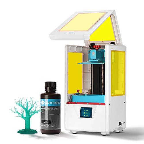 ANYCUBIC Imprimante 3D Photon S LCD pour photopolymérisation MARS UV double axe Z Smart Touch couleurs Screen Printer Offline Impression 3D Dimensions 115 x 65 x 165 mm, Photon S, Blanc, 1