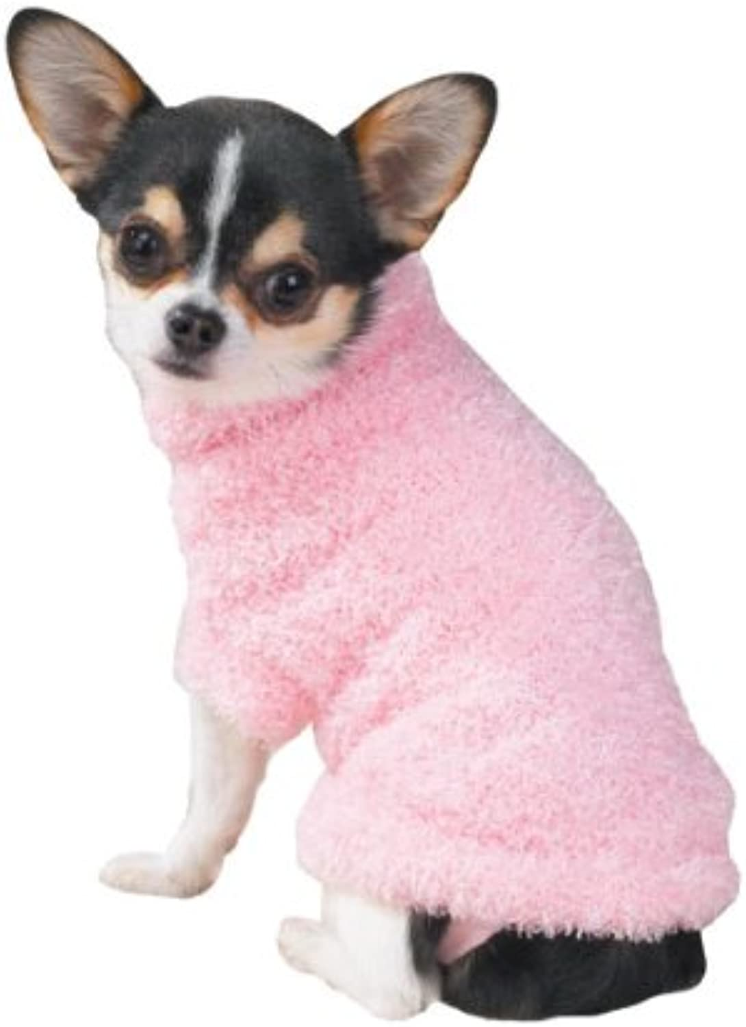 Pet Pals ZA110 20 75 East Side Fuzzy Sweater Lrg Pink