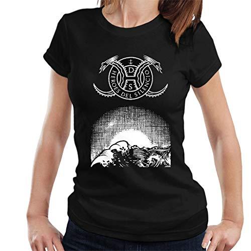 DIANXIAOERR Mujer Heroes del Silencio Art Easy Short Sleeved Camiseta/T-Shirt