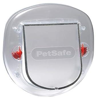 PetSafe - Chatière pour Chat et Petit Chien Staywell - Porte pour Animaux Résistante avec Tunnel d'Extension (inclus) - Givré