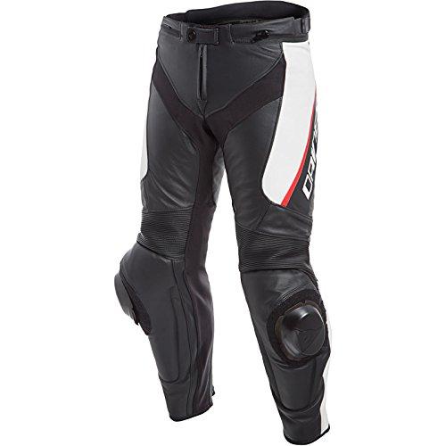 Dainese, Delta 3, leren broek, zwart/wit/rood, maat 48