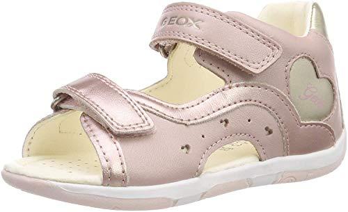 Geox B Sandal Tapuz Girl C C, Sandales bébé Fille, Rose (Dk Rose/Gold C8252) 18 EU