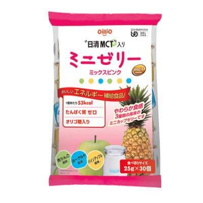 日清 MCTミニゼリー ミックスピンク 30個 (青りんご・パインアップル・ヨーグルト 各25g×10個)