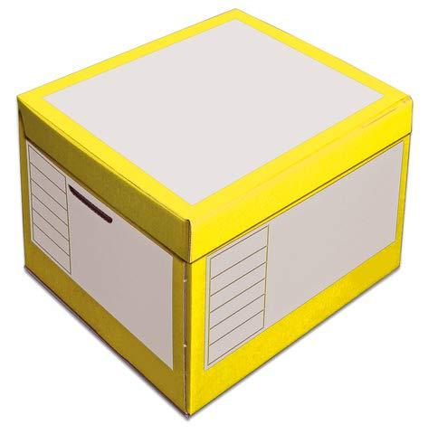 pressel Caja y organizador, 43L, wellp, tapa, 41x 35x 30cm, I: 39x 33x 29cm, amarillo