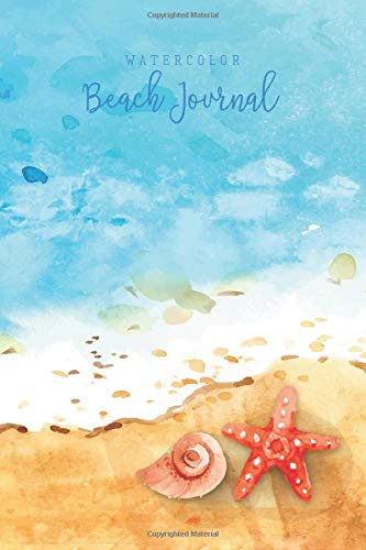 Watercolor Beach Journal: 80 unlined pages with pretty watercolor graphics throughout to inspire you!