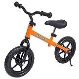 自転車 子供用 ゴーライダー ペダルなし自転車 幼児 スタンド付 プレゼント お誕生日 橙