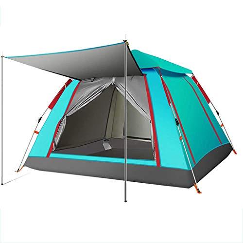 LM-BBQ Camping Zelt Automatisches Aufklapp Zelt Wasserdichtes Zelt UV-Schutz Privatsphäre Toiletten Zelt 3-4 Personen Leichtes tragbares Zelt, einlagig