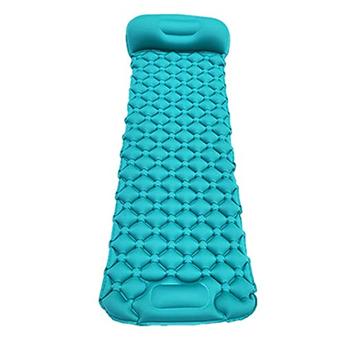 Colchoneta de dormir ligera autoinflable, compacta a prueba de agua, inflable con almohada bomba incorporada para senderismo, mochilero con bolsa de almacenamiento