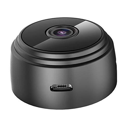 WishHome A9 mini cámara wifi IP, cámara inalámbrica HD 1080P, cámara oculta para seguridad en el hogar, con visión nocturna DVR, monitor remoto, función magnética (negro)