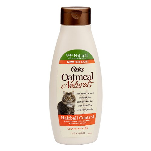 Oster 078590-735 Oatmeal Naturals Hairball Control Cat Shampoo, 18-Ounce