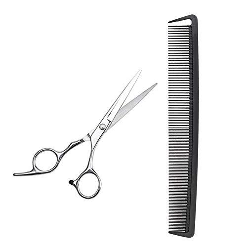 Auony Haarstylingkamm mit grober und feiner Zahnung, mit professioneller Friseurschere