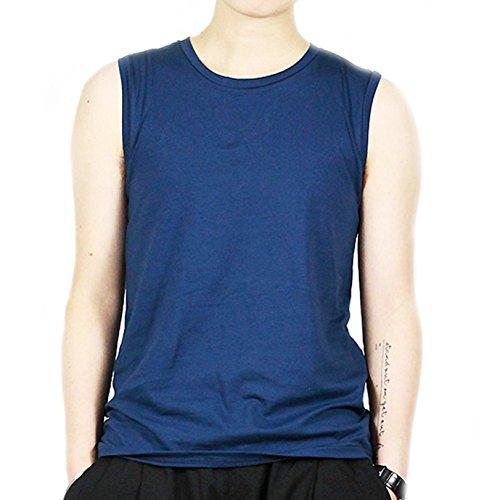 BaronHong BaronHong Frauen Lesbische Tomboy Baumwolle Bunte Tank Top Weste Brust Binder Stärkere Bandage (blau, L)