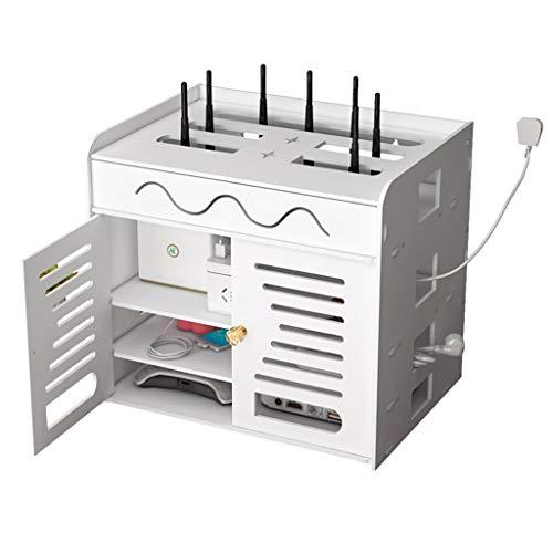 Caja De Almacenamiento De Enrutador Estante De Almacenamiento De Control Remoto WiFi Acabado del Panel De Conexión De Cables Enchufables Estante del Decodificador