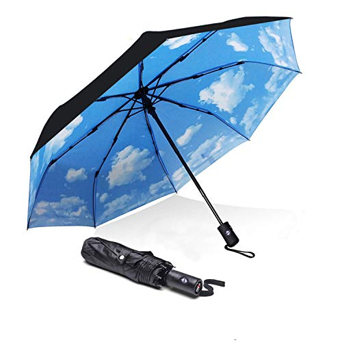 Japanese Sakura Umbrella Compact Rain/&Wind Repellent Umbrellas Sun Protection With Anti UV Coating Travel Auto Folding Umbrella