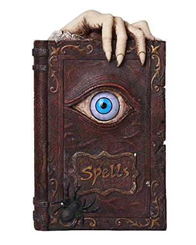 Horror-Shop Salvadanaio A Forma di Libro delle Streghe con Occhio Magico