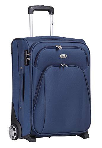 CABIN 5620 Valigia Trolley morbido, bagaglio a mano 55x40x20 con 2 ruote Grandi e Chiusura TSA, grande valigia spaziosa e resistente, Idoneo Ryanair e Easyjet