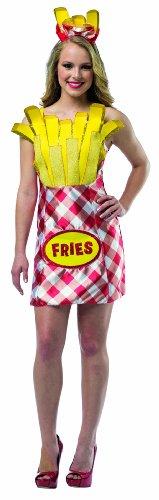 Disfraz de paquete de patatas fritas para mujer