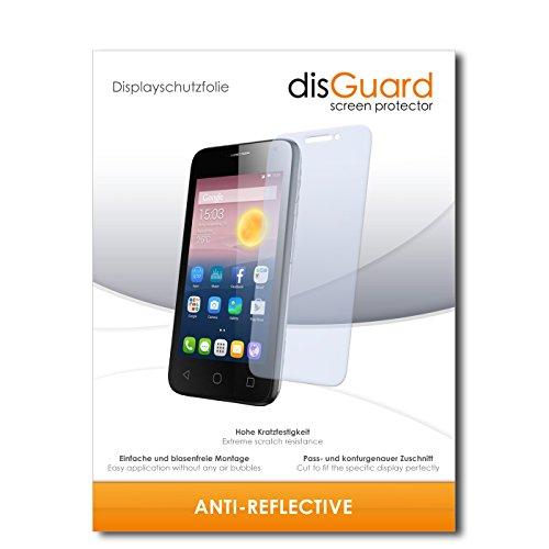 disGuard® Bildschirmschutzfolie [Anti-Reflex] kompatibel mit Alcatel Pixi First [4 Stück] Entspiegelnd, Matt, Antireflektierend, Extrem Kratzfest, Anti-Fingerabdruck - Panzerglas Folie, Schutzfolie