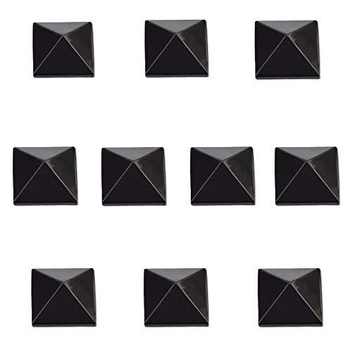 RaceWax Full Set of Ten Metal Pyramid Studs Stomp Pad 10 Black