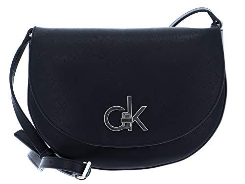 Calvin Klein RE-Lock, Crossovers para Mujer, Negro, OS