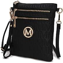 Mia K. Collection Crossbody Bag for women - Removable Adjustable Strap - Vegan leather wristlet Designer messenger Purse Black