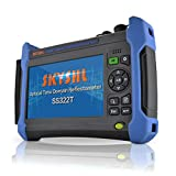 SKYSHL 1310nm + 1550nm 37dB + 35dB SM Fiber OTDR Testing (Built-in OPM OLS VFL Event Map and WIFI) 7inch Touch Screen Optical Time Domain Reflectometer With SC ST FC LC UPC Adapter