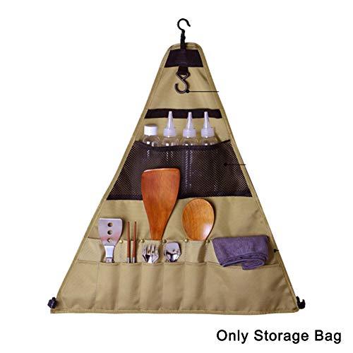 Buyfunny01 Sac de rangement pour cuillère, fourchette, accessoires à suspendre, sac à couverts en tissu Oxford, ustensiles de table, baguettes, équipe