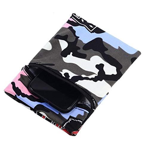 Emowpe Bolsillo de muñeca con cremallera, bolsillo para teléfono móvil deportivo, bolsillo para smartphone para correr, viajes, gimnasio, ciclismo, deporte
