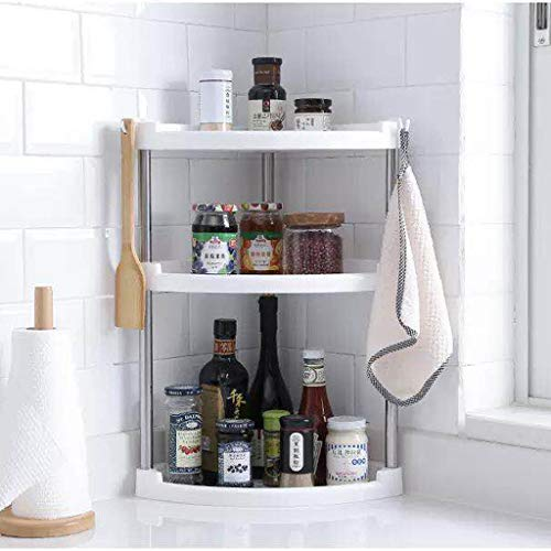 YIZH Organizador Cocina - Deal Accesorio de Cocina para Especias/Hierbas, Condimentos, Jabones, Botelas, Frascos - Cromo Organizador Estante cocinas rinconera estantes
