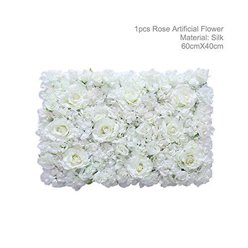 1M künstliche Rose Blumen-Reihe Hochzeitsdeko Blumen-Wand-Straße Zitiert Gewölbte Tür Shop-Silk Blumen-Reihe Wedding Supplies, 14